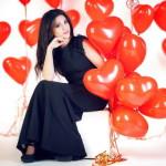 фотосесия с шарами 14 февраля