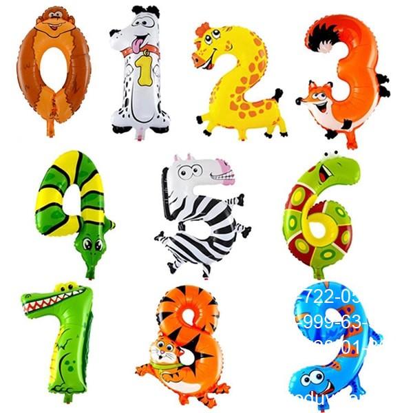 Шары цифры в форме разных животных, высота один метр, надутая гелием цена 400 за штуку, надутая воздухом 250грн/шт.