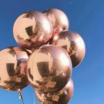 сферические шары розовое золото, размер 45см - 450грн/шт.