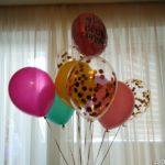 шарик 30см - 33грн/шт. шарик 30см +конфетти - 45 грн/шт., круг с надписью С ДНЕМ РОЖДЕНИЯ 85грн/шт.
