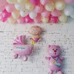шарики роддом для девочки