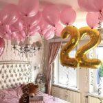 оформление шарами спальни ко дню рождения