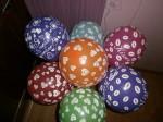 10 гелиевые шарики с сердечками,поцелуйчиками,любовь