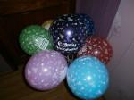 """2 шары 12""""(30 см) с надписью с днем рождения"""