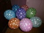 15 ассорти шарики воздушные с рисунком я тебя люблю