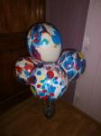 25 большие шары надуты гелием или воздухом мраморные