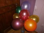 34 перламутровые шары надутые воздухом на палочке