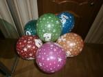 летающие шары шары с цифрами один, единица, два, три, четыре, пять, шесть, семь, восемь, девять, 30см