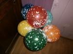 27 купить в Киеве шары разноцветные с цветами, 30см