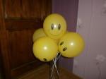 31 воздушные или гелиевые шарики смайлики желтые купить в Днепропетровске на Победе