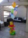 8 шарики Винни пух и гелиевые шарики с днем рождения