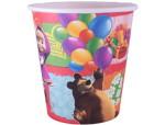 15 бумажные одноразовые стаканы Маша и медведь