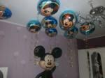 2 шарик из фольги надутый гелием мышонок Микки Маус