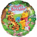 фольгированный шарик с днем рождения Винни Пух Тигр Пятачок