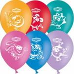 4 воздушные шары с изображение героев мультфильма смешарики