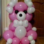 фигура из шаров линкоулов розвоый медведь,, 350грн/шт.