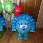 фигура из воздушных шаров смешарик Ежик, 500грн/шт.