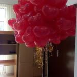 красные шарики в форме сердца