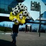 шарики футбольные мячи, фольга, 45см - 70грн/шт.