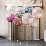 прозрачные шары с конфетти 600грн/шт.