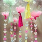 украшение шарика гиганта - гирлянда сердца, бабочки