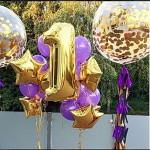 большие шары с конфети