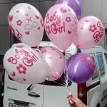шарики на выписку из родиильного дома Бэби гел, белый, розовый, сиреневый , 38грн/шт.
