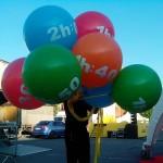 гелевые шары гиганты 80см 520грн, надпись отдельно